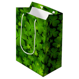 Bolsa De Regalo Mediana Accesorios irlandeses del regalo del trébol