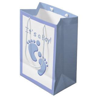 Bolsa De Regalo Mediana Bebé los pequeños pies es un muchacho MGB