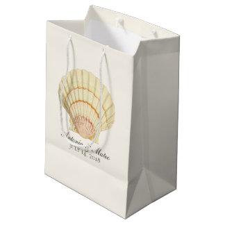 Bolsa De Regalo Mediana Boda del Seashell de la concha de peregrino del