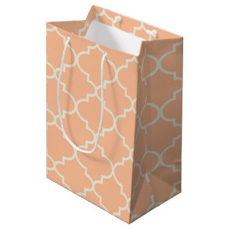 Bolsa De Regalo Mediana Bolso anaranjado en colores pastel del regalo del