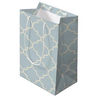 Bolsa De Regalo Mediana Bolso azul claro del regalo del modelo de