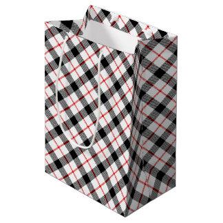 Bolsa De Regalo Mediana Bolso blanco y negro rojo del regalo de vacaciones