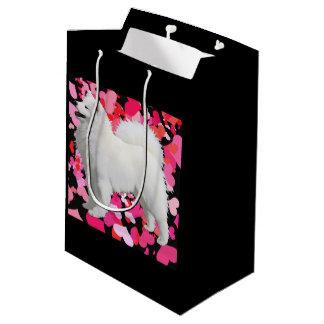 Bolsa De Regalo Mediana Bolso de encargo del regalo del samoyedo - medio,