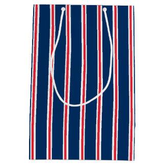 Bolsa De Regalo Mediana Bolso del regalo con las rayas blancas y rojas