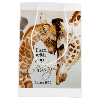 Bolsa De Regalo Mediana Bolso del regalo de la jirafa