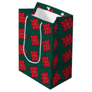 Bolsa De Regalo Mediana Bolso del regalo de vacaciones de los Poinsettias
