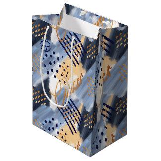 Bolsa De Regalo Mediana Bolso del regalo del extracto del Watercolour del
