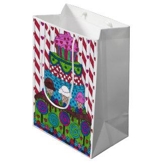Bolsa De Regalo Mediana Bolso del regalo - torta del Lollipop