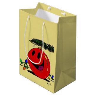 Bolsa De Regalo Mediana Bolso feliz del regalo del ornamento