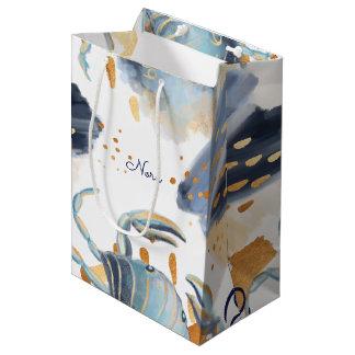 Bolsa De Regalo Mediana Bolso gris del regalo del Watercolour del cangrejo