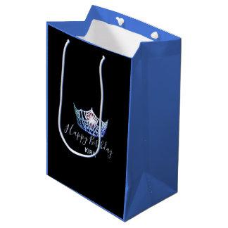 Bolsa De Regalo Mediana Bolso-Medio azul del regalo del 2-Tono de la