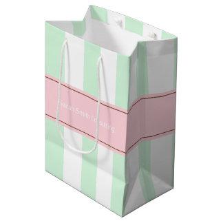 Bolsa De Regalo Mediana Bolso rayado personalizado del regalo del