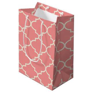 Bolsa De Regalo Mediana Bolso rosa claro del regalo del modelo de