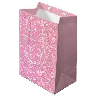 Bolsa De Regalo Mediana Bolso simbólico color de rosa del regalo