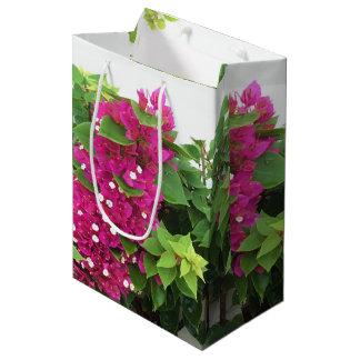Bolsa De Regalo Mediana Bougainvillea de las rosas fuertes