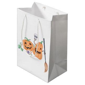 Bolsa De Regalo Mediana Calabazas lindas de Halloween