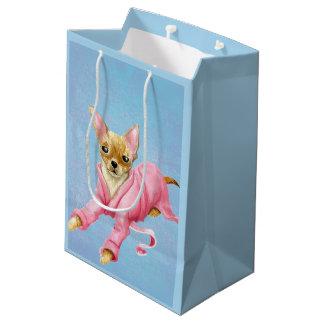 Bolsa De Regalo Mediana Chihuahua en un bolso medio del regalo del perro