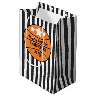 Bolsa De Regalo Mediana Cumpleaños del baloncesto
