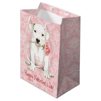 Bolsa De Regalo Mediana Dogo subió tarjeta del día de San Valentín