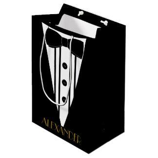 Bolsa De Regalo Mediana El boda personalizado smoking de los padrinos de