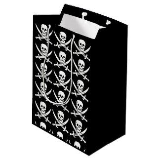 Bolsa De Regalo Mediana El pirata/los cráneos/las espadas de encargo del