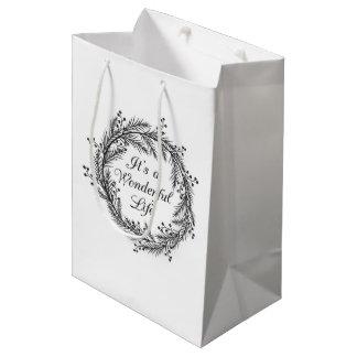 Bolsa De Regalo Mediana Es una vida maravillosa - bolso del regalo del