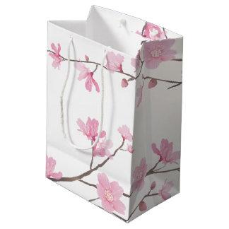 Bolsa De Regalo Mediana Flor de cerezo - fondo transparente