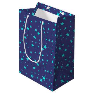 Bolsa De Regalo Mediana Fondo del cielo nocturno con el bolso del regalo