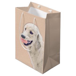 Bolsa De Regalo Mediana Golden retriever con arte del perro de la pintura