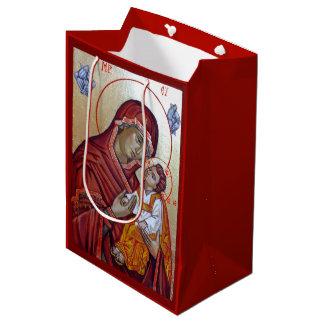 Bolsa De Regalo Mediana Icono bizantino del estilo Santa María Teotokos