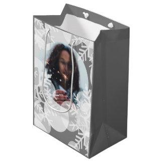 Bolsa De Regalo Mediana La nieve protagoniza - blanco, gris - el bolso del