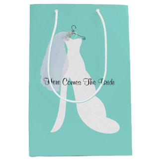 Bolsa De Regalo Mediana La novia y el velo aquí viene el bolso del regalo