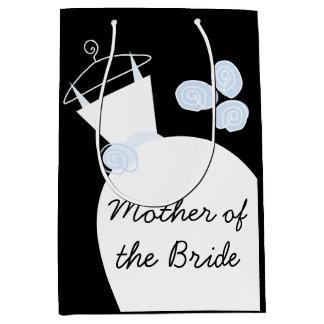 Bolsa De Regalo Mediana Madre azul del vestido de boda del medio del negro