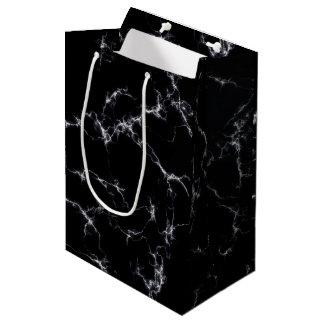 Bolsa De Regalo Mediana Mármol elegante style4 - blanco y negro