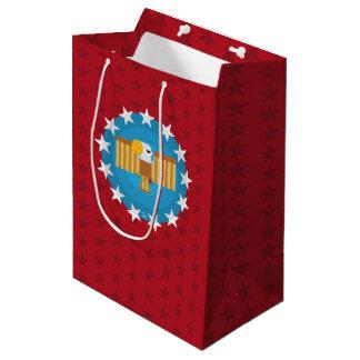 Bolsa De Regalo Mediana Medio del bolso del regalo de Eagle de la libertad