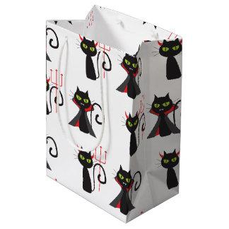 Bolsa De Regalo Mediana Modelo negro Halloween de los gatos del diablo