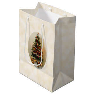 Bolsa De Regalo Mediana Oh, bolso medio del regalo del árbol de navidad