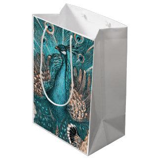 Bolsa De Regalo Mediana pavo real azul