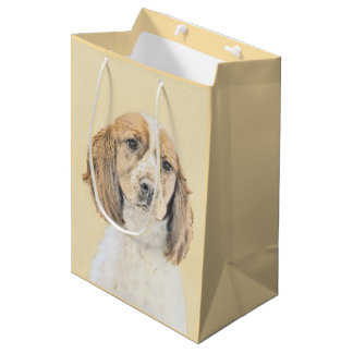 Bolsa De Regalo Mediana Perro de aguas de saltador inglés que pinta arte