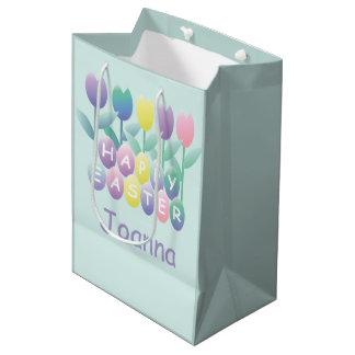 Bolsa De Regalo Mediana Personalizado feliz MGB de los huevos de Pascua