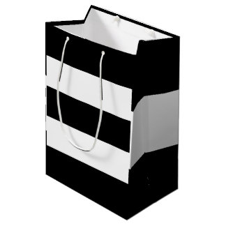 Bolsa De Regalo Mediana Rayas blancas negras