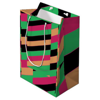 Bolsa De Regalo Mediana Rayas coloreadas harlequin diagonal