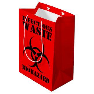 Bolsa De Regalo Mediana Símbolo inútil infeccioso del Biohazard