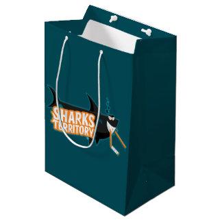 Bolsa De Regalo Mediana Territorio de los tiburones - bolso medio del