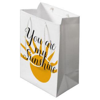 Bolsa De Regalo Mediana Usted es mi bolso del regalo de la sol