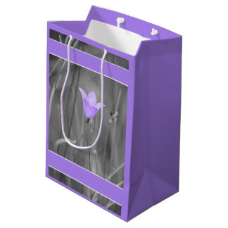 Bolsa De Regalo Mediana Wildflower azul violeta del Bluebell (Harebell)