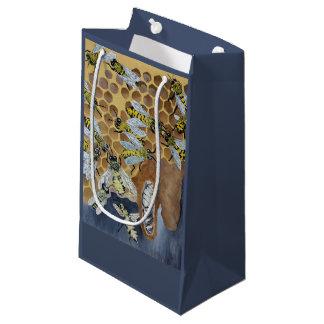 Bolsa De Regalo Pequeña abejas en un bolso del regalo de la colmena
