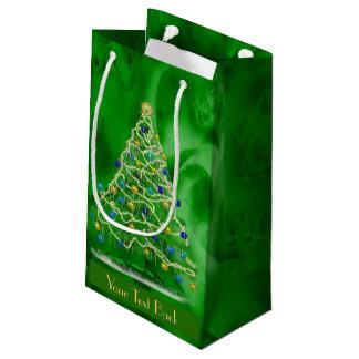 Bolsa De Regalo Pequeña Árbol de navidad de los Arty - texto de