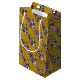 Bolsa De Regalo Pequeña Arte del ópalo de las flores de los corazones de