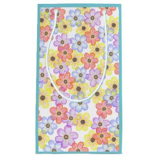 Bolsa De Regalo Pequeña Azul floral del bolso del regalo